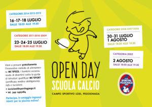 open day scuola calcio Sporting Pegognaga